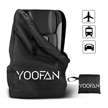 YOOFAN Gate Check Travel Bag With Backpack Shoulder Straps For Strollers Car Seats Pushchairs