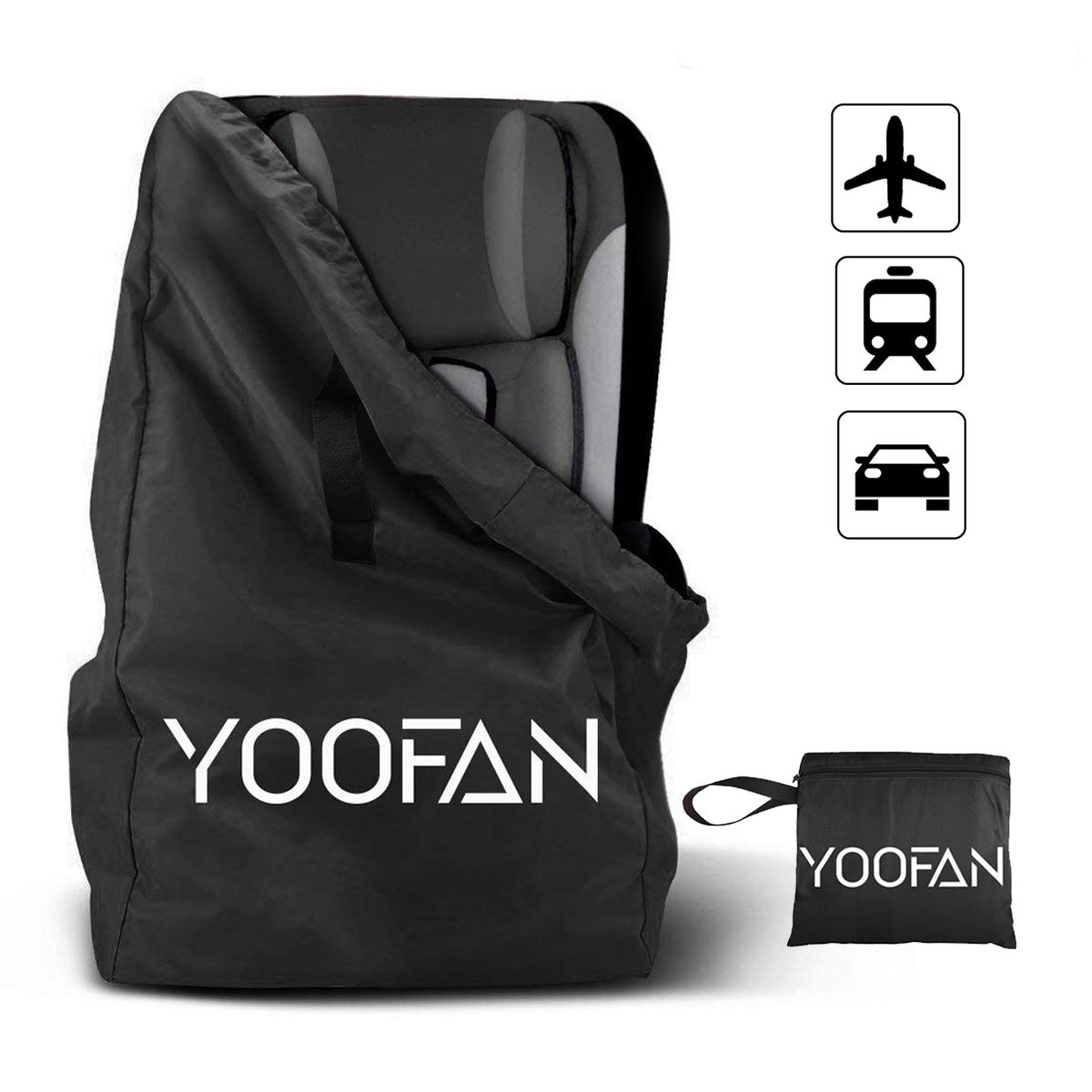 YOOFAN Gate Check BagTravel Backpack With Shoulder Straps For StrollerCar Seats