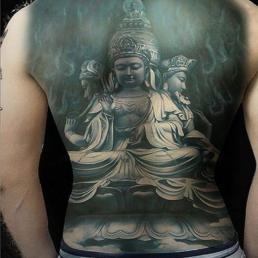 adgkitb 2 Piezas Tatuajes temporales Pegatina 3D Negro Cuerpo Arte ...