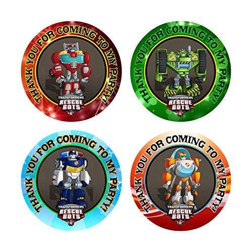 (Crafting Mania LLC. 12 Rescue Bots Birthday Party Favor Stickers (Bags Not Included))