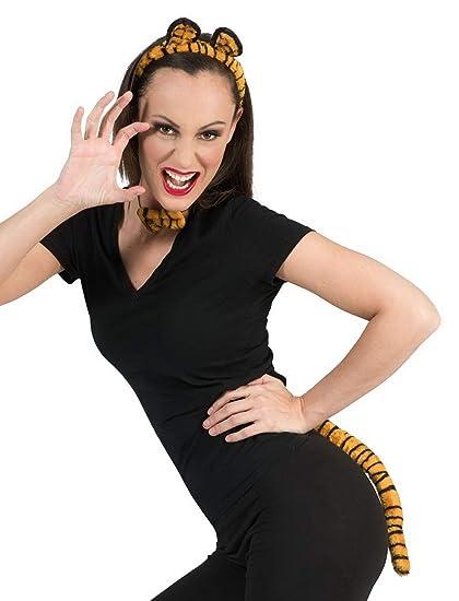 Luxuspiraten – Accesorios de Disfraz para Mujer, Piel de Tigre, Juego de Orejas con