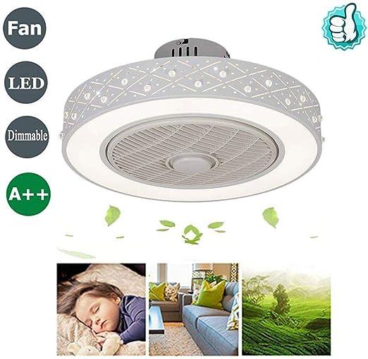 JPFENGSD Ventilador de Techo LED con iluminación Lámpara de Techo ...