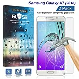 samsung galaxy a7 2016 [2-Pack] Samsung Galaxy A7 2016 Tempered Glass Screen Protector, Pacific Asiana HD Crystal Clear Ultra Thin [9H Hardness] [Scratch Proof] Glass Protector Skin Cover with Lifetime Replacement Warranty