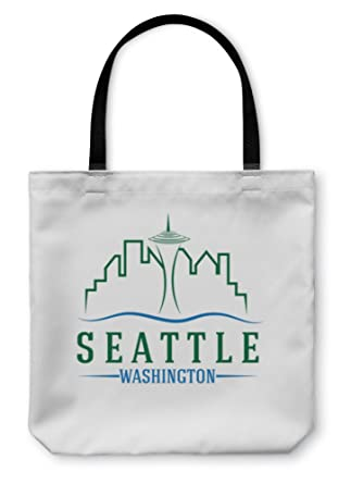 Amazon gear new shoulder tote hand bag seattle skyline design gear new shoulder tote hand bag seattle skyline design template 13x13 5631787gn maxwellsz