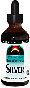 Source Naturals Ultra Colloidal Silver - Liquid Supplement For Immune System Support - 4 oz