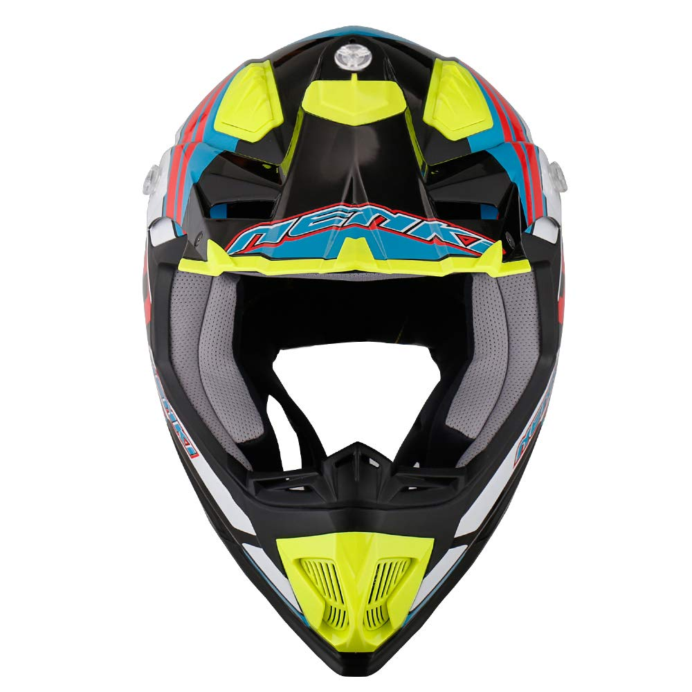 Noir Orange Blanc, M NENKI Casque Moto Cross NK-315 pour Hommes et Femmes ECE Approuv/és