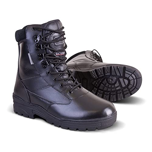 03585b627eb Kombat UK Patrol Boots - All Leather - SWAT, Police, Security, Military