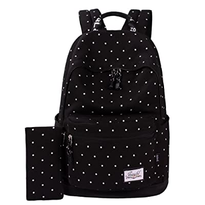 1630163cab Mocha weir JIAYBL School Book Bags Girls College Canvas Backpack