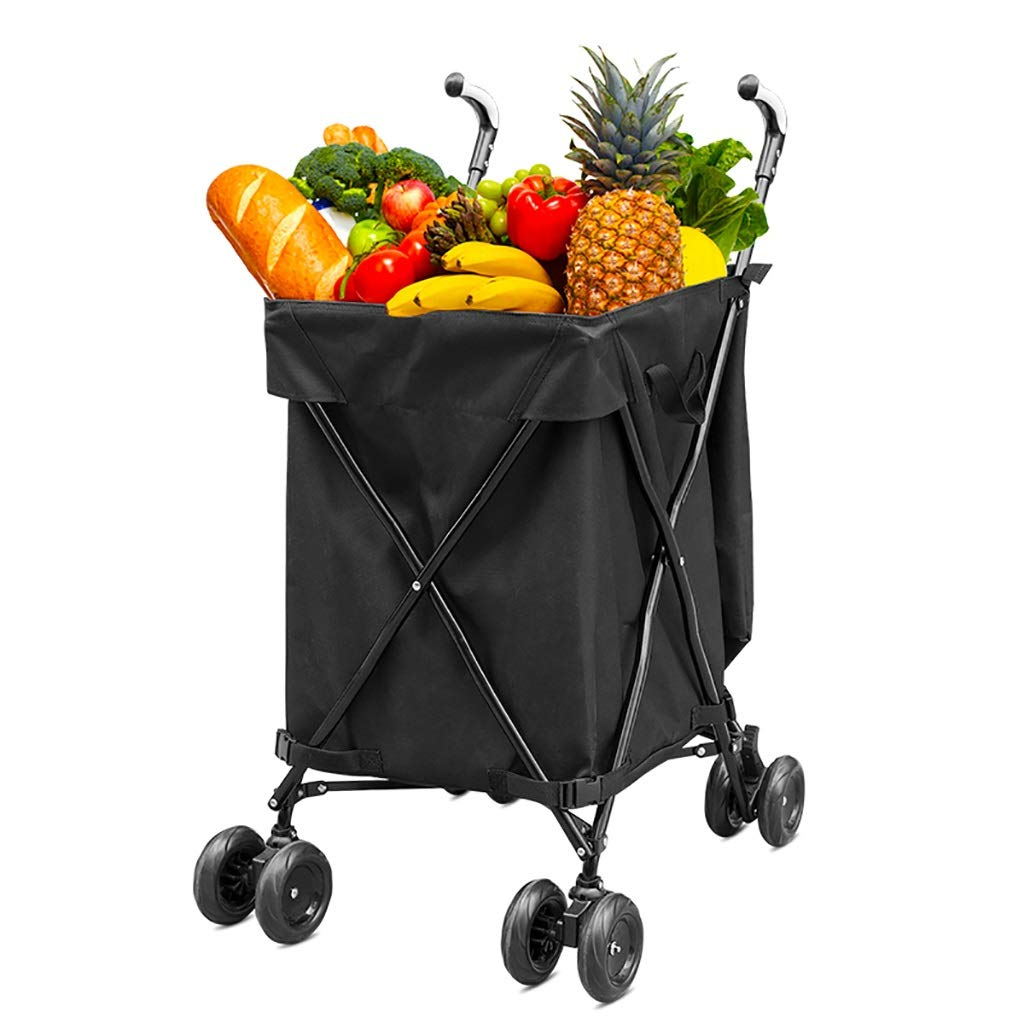 Supermarket Shopping cart, Three Seconds Folding Towel Storage Box Hotel Room Service car Hair Trolley