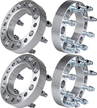 2X 8 Lug Wheel Spacer Adapters 3 8x6.5 Fits Dodge RAM 2500 3500 1994-2011 Ford F-250 F-350 1988-1998 SCITOO 8x6.5 Wheel Spacers
