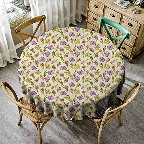 Round Tablecloth Vinyl Clear 35