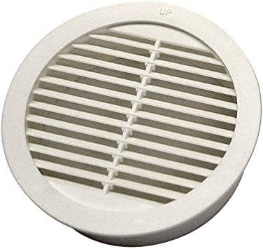 4-Pack Resin Circular Mini Wall Louver Soffit Vent in White Master Flow 4 in