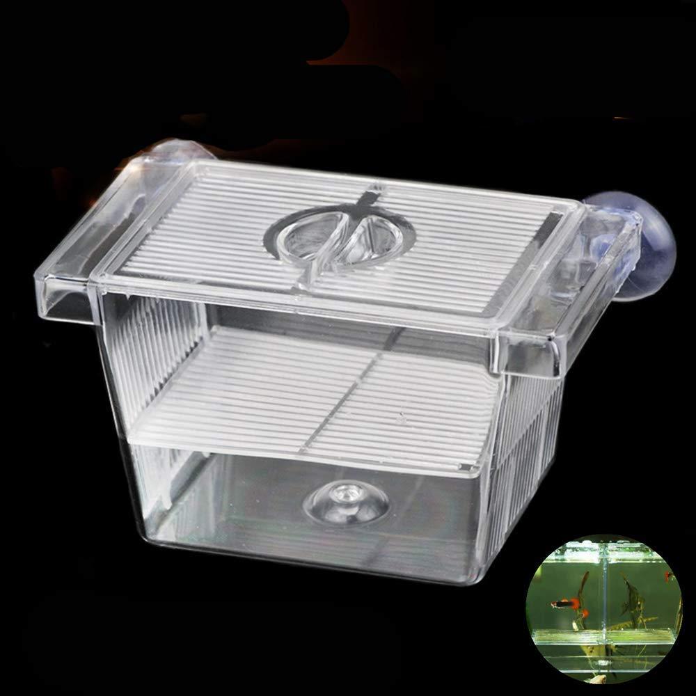 Aquarium Fish Tank Hatchery Breeder Box Breeding Tank, Baby Fish Separator Fish Tank Divider, Acrylic Fish Container…