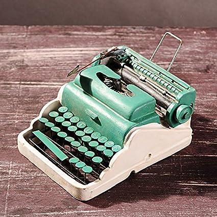 Antigua de resina, diseño de máquina de escribir hechos a mano, objetos de las