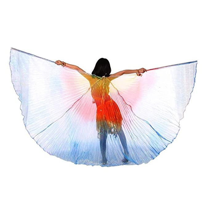 Pilot-trade Children's Belly Dance Costume 2 Stick & Isis Wings Interval  Colors