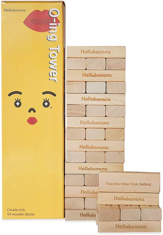 O-ing Tower Truth or Dare Wooden Blocks