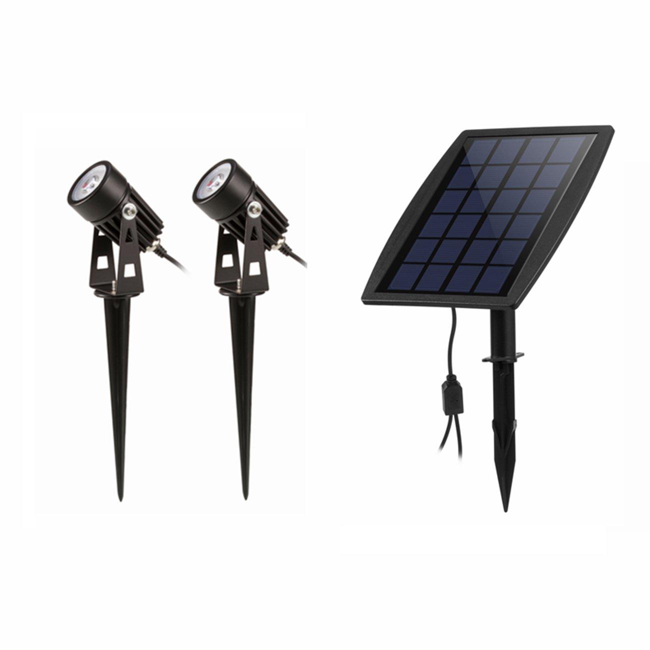 LED Landscape Solar lights Waterproof Outdoor Solar Spotlight for Backyard Driveway Patio Gardens Lawn,Dusk to Dawn Auto On Off (3000K-Warm White)
