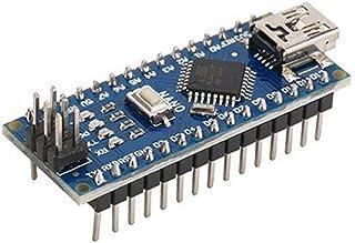 Nano ATMEGA328P Mini USB avec Chargeur de démarrage Compatible pour contrôleur Arduino Nano V3.0 CH340 USB Driver 16Mhz(Color:Blue)