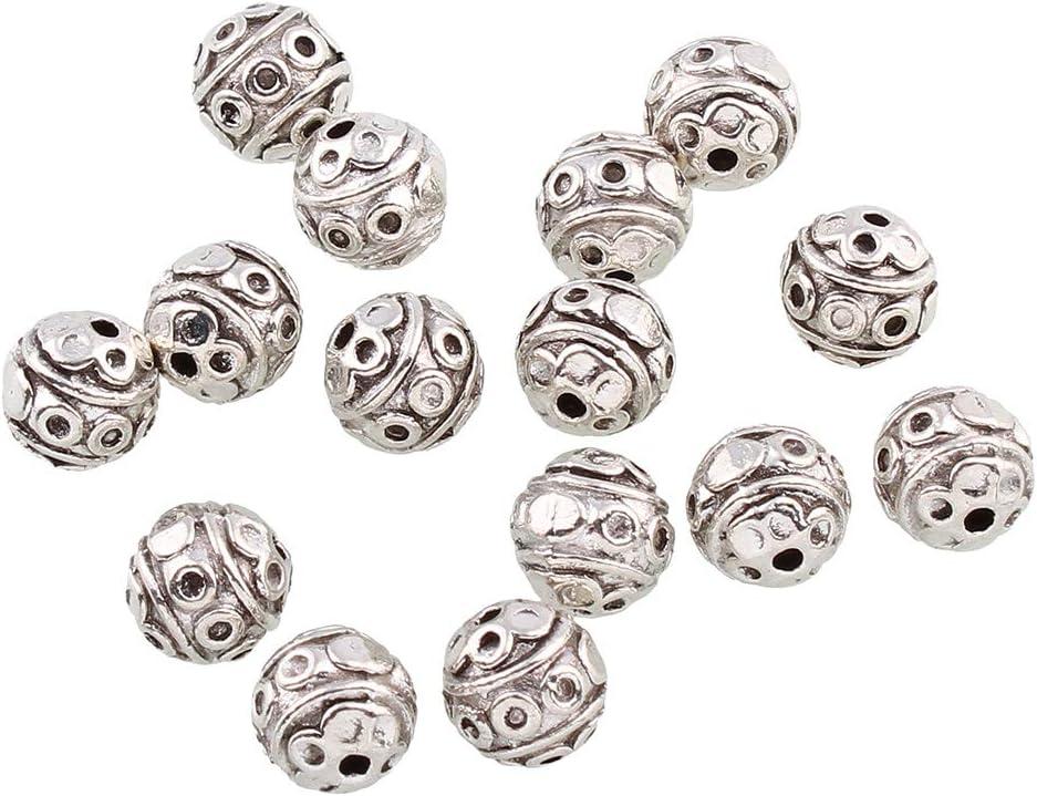 50x Metallröhrchen Spacer Perlen Twist Connectors Perlen Schmuck