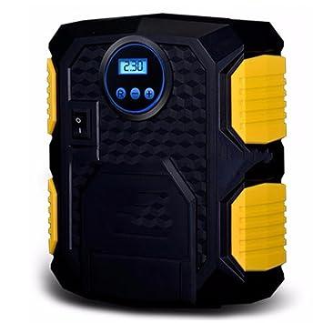 JIBO Bomba De Neumático De Emergencia Portátil Bomba De Aire Mini-Coche Con Luces LED Preestablecido Carga Rápida Parada Inflable Rápido 12V: Amazon.es: ...