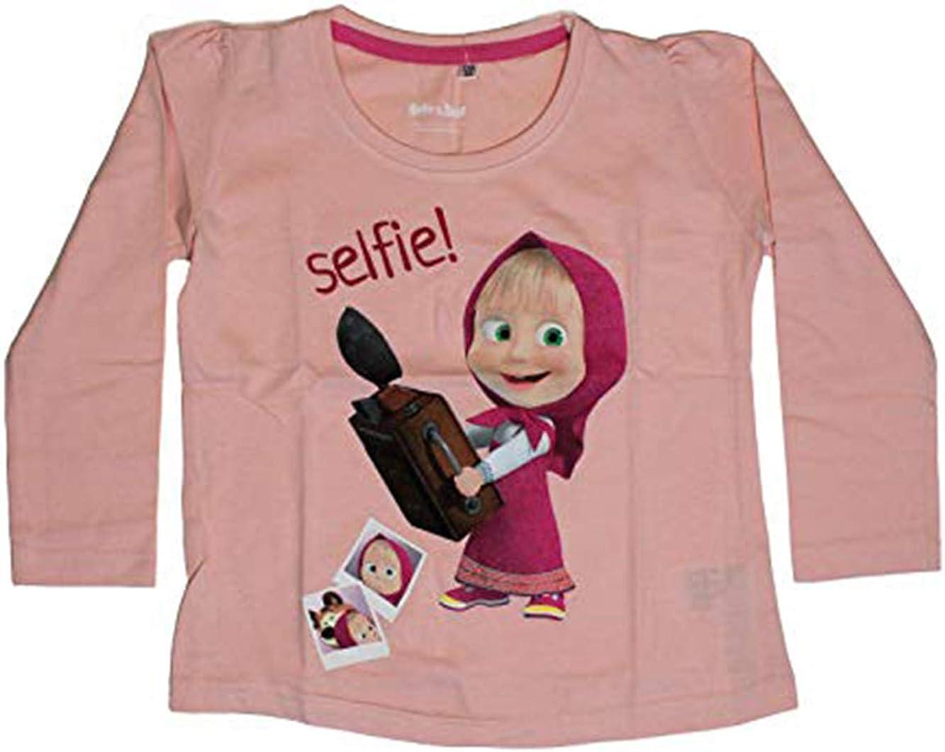 Masha and the Bear Girls Long Sleeve T-Shirt