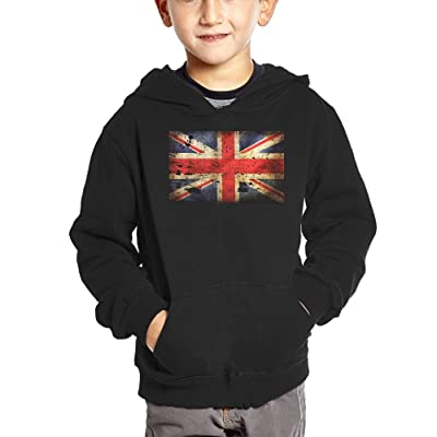 Big United Kingdom Flag Baby Boys' Casual Hoodies Autumn Winter Sweatshirt