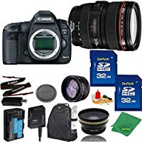 Great Value Bundle for 5D MARK III DSLR – 24-105MM L + 2PCS 32GB Memory + Wide Angle + Telephoto Lens + Backpack