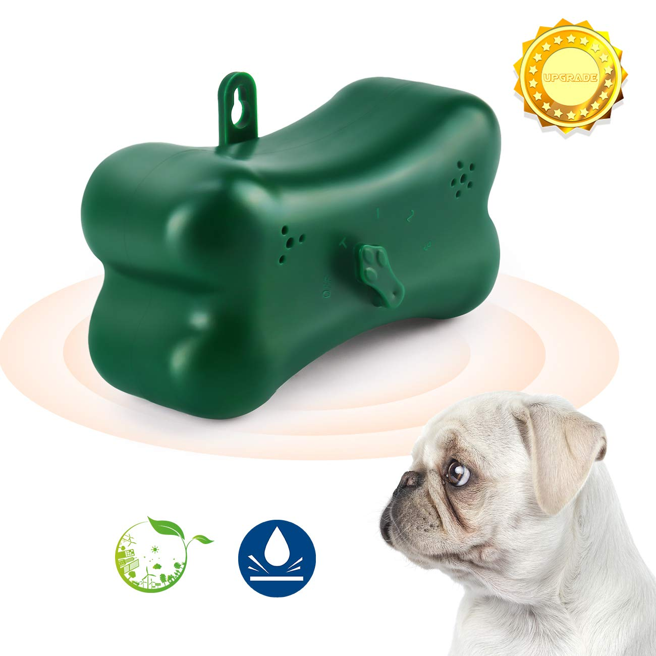 Bark Control Device, Zomma Mini Bark Control Device Indoor/Outdoor Anti Barking Ultrasonic Dog Bark Control Sonic Bark Deterrents Silencer Stop Barking, Dog Bark Control (UPGRADED) by Zomma