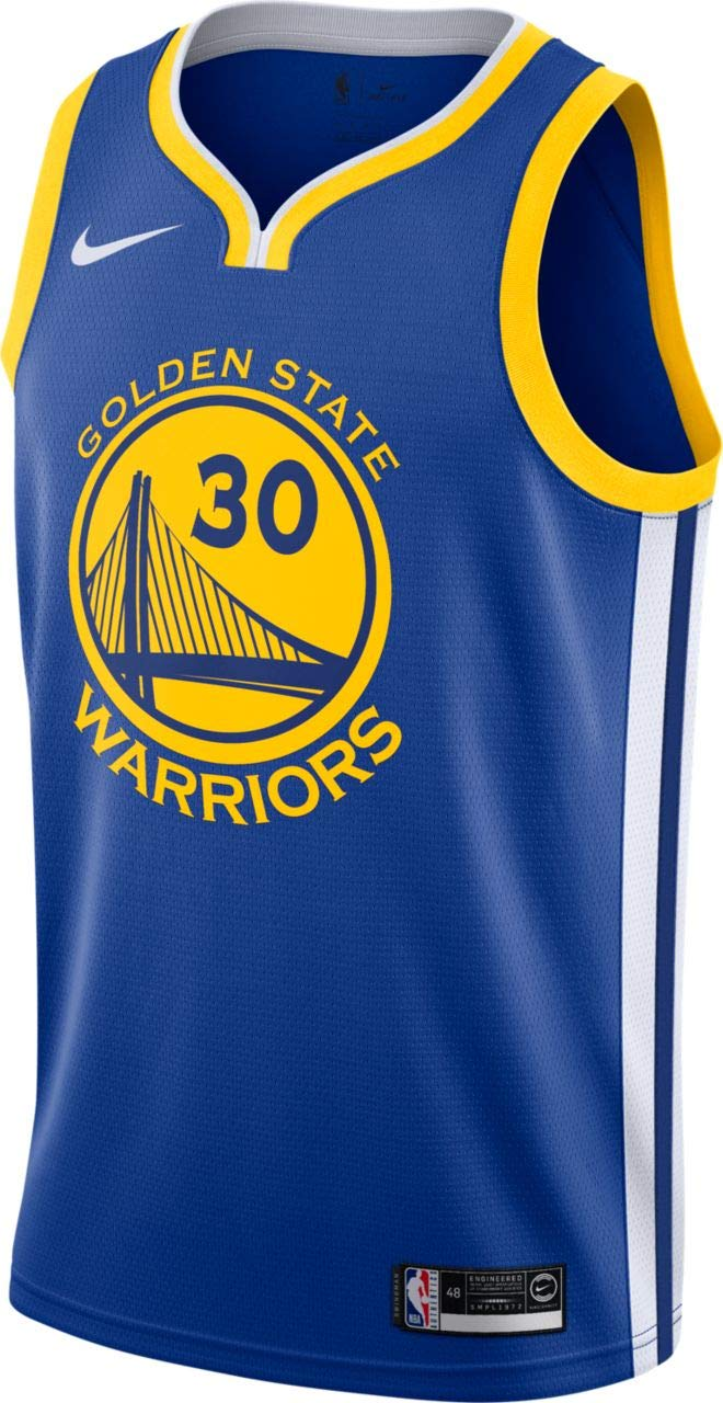 b43f149cedb75 Nike Stephen Curry Golden State Warriors Icon Edition Swingman Jersey - Blue
