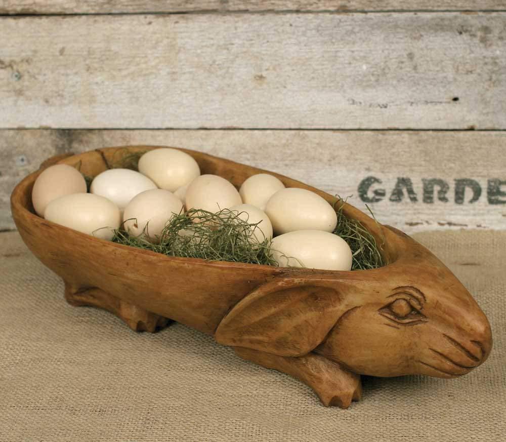 Treen Rabbit Bowl Colonial Tin Works 680582