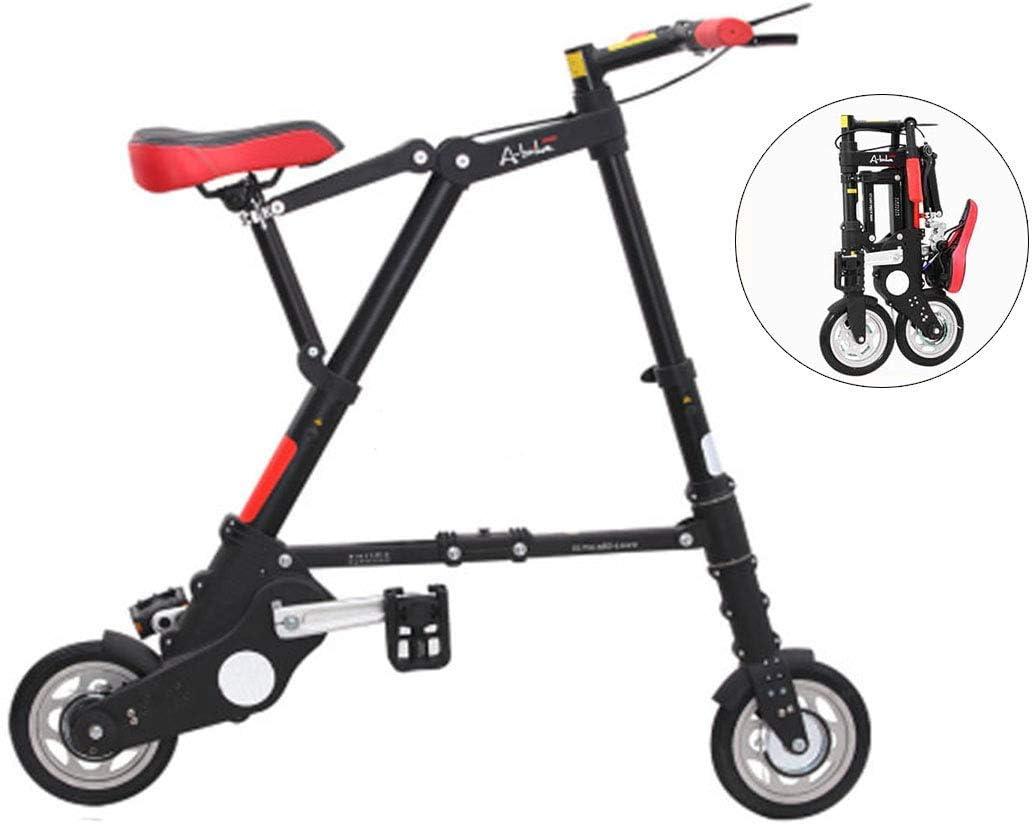NZ-Childrens bicycles Bicicletas Plegables Mini voladoras livianas, Cuadro más Resistente de aleación de Aluminio de 8