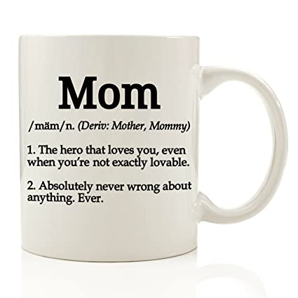 amazon com mom definition funny coffee mug 11 oz top christmas