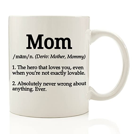 Review Mom Definition Funny Coffee