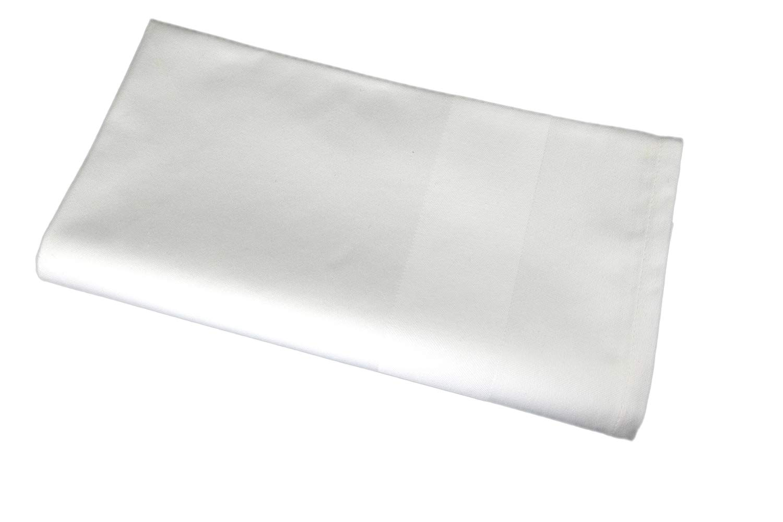 (Satin Band Border) - Sigmatex - Lanier Textiles Satin Band Border Cloth Napkin, Blended 55% Cotton 45% Polyester, 22