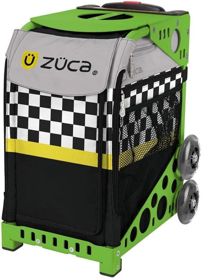 ZUCA スポーツスーツケース 内蔵シート付き - Sk8terブロックインサートバッグ フレームカラーを選択 グリーン