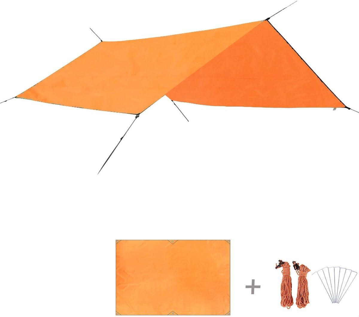 TRIWONDER Tarp Hamac Camping B/âche de Tente Tapis de Sol Abri de Soleil B/âche de Protection Parasol Couverture Imperm/éable L/éger pour Camping Plage Randonn/ée