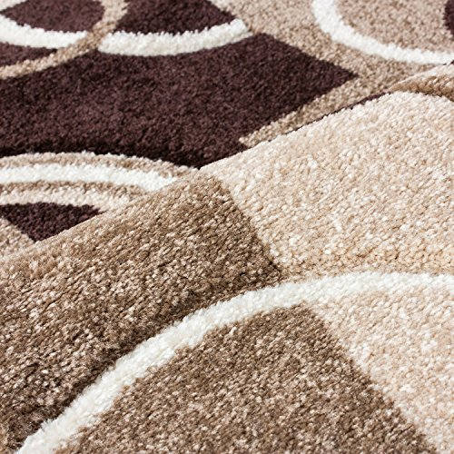 Echo Shapes Amp Circles Ivory Beige Brown Modern Geometric