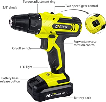 CACOOP CCD20003L Power Drills product image 2