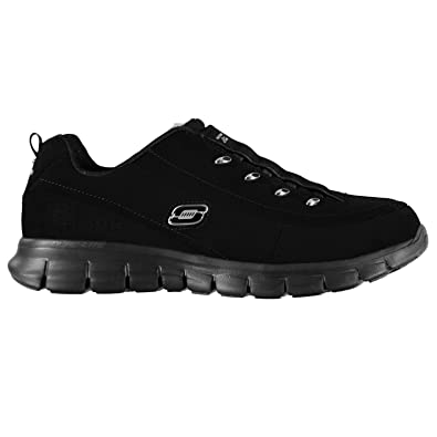e9894ce09dde5 Skechers Womens Ladies Syn Elite Fashion Trainers Sport Shoes Footwear  Casual Black UK 5 (38