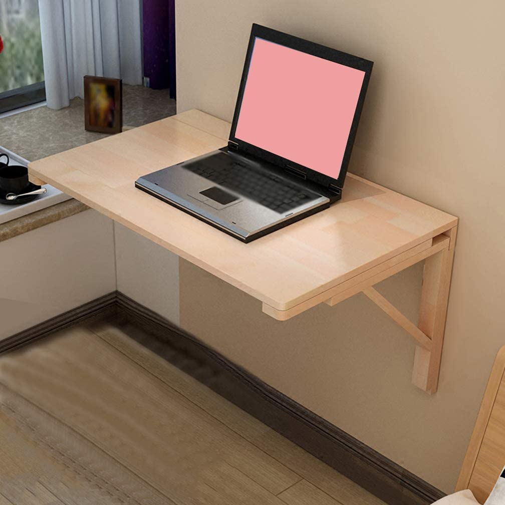 Wall Mounted Floating Folding Table, Drop Leaf Dining Table Perfect Addition to Garage & Shed/Home Office/Laundry Room/Home Bar/Kitchen & Dining Room
