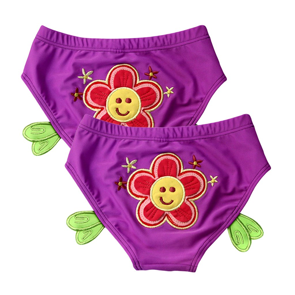 Baby Swim Diaper Ruffle Swim Trunk Reusable Absorbent Briefs Swimsuit