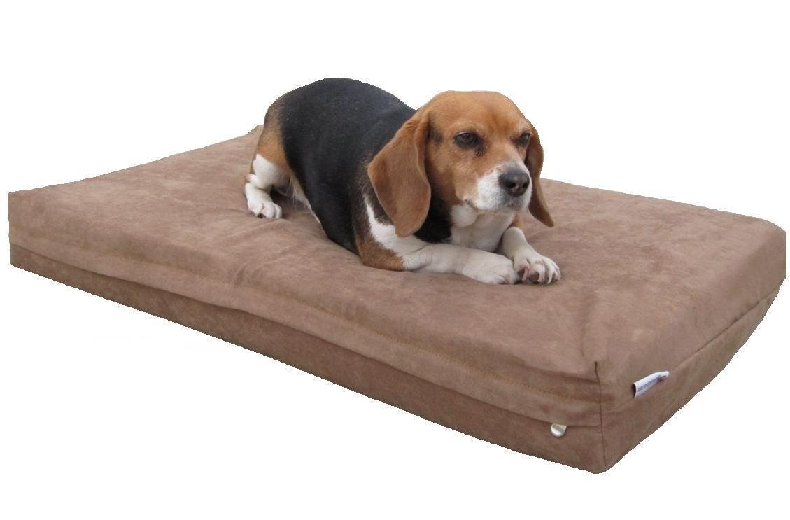 Dogbed4less Heavy Duty Orthopedic Memory Foam Pet Bed with Waterproof Internal Case 2 Washable Microsuede External Cover for Small to Medium Dog