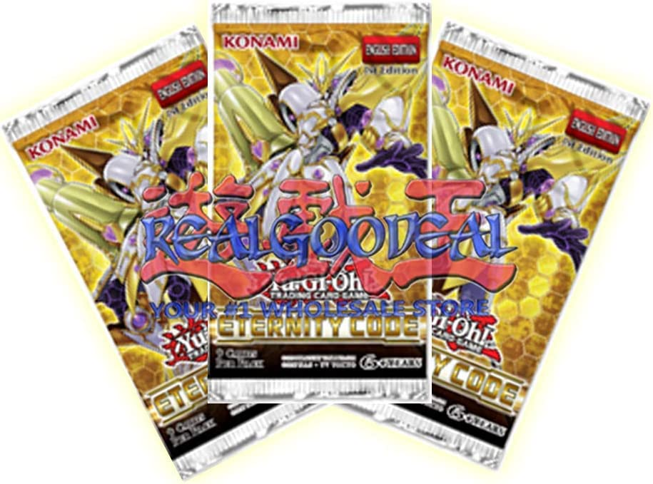 YUGIOH x5 Eternity Code Factory Sealed Booster Packs brand new!!!