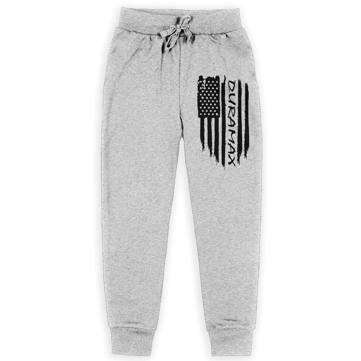 American Flag Duramax Boys Sweatpants Teen Fleece Pants Boys Athletic Pants Gray