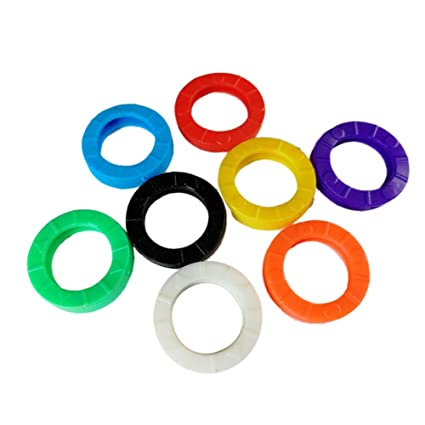 Amazon Com 32 Pack Mixed Colors Key Chain Rings Car Motorcycle
