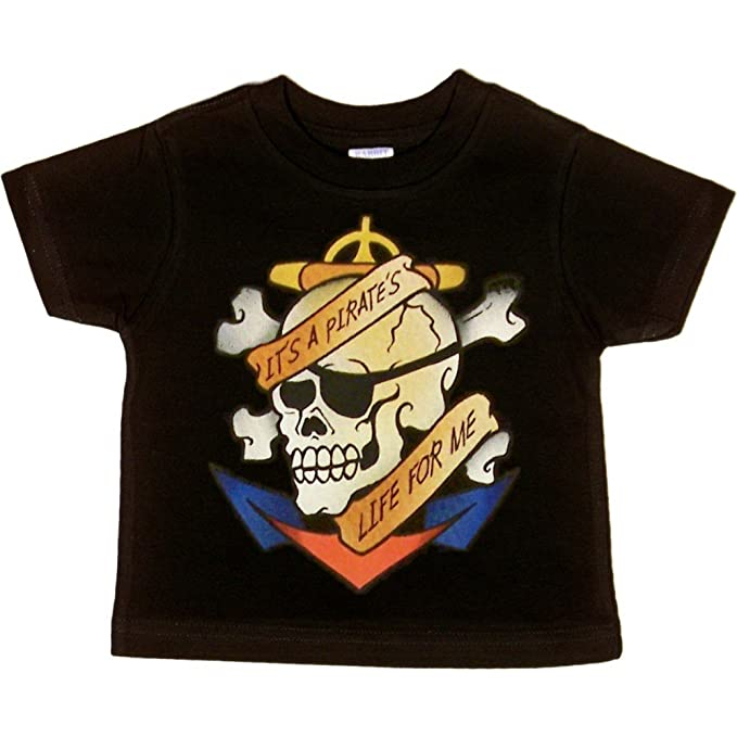 73045ae71 Amazon.com: Toddler T-Shirt : IT'S A PIRATE'S LIFE FOR ME: Clothing