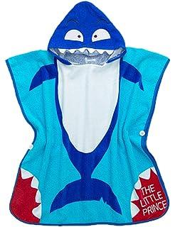 70cm besbomig Kinder Badetuch Robe mit Kapuze Mikrofaser Strand Schwimmen Poncho Super weich Drucken Handtuch Badem/äntel 70