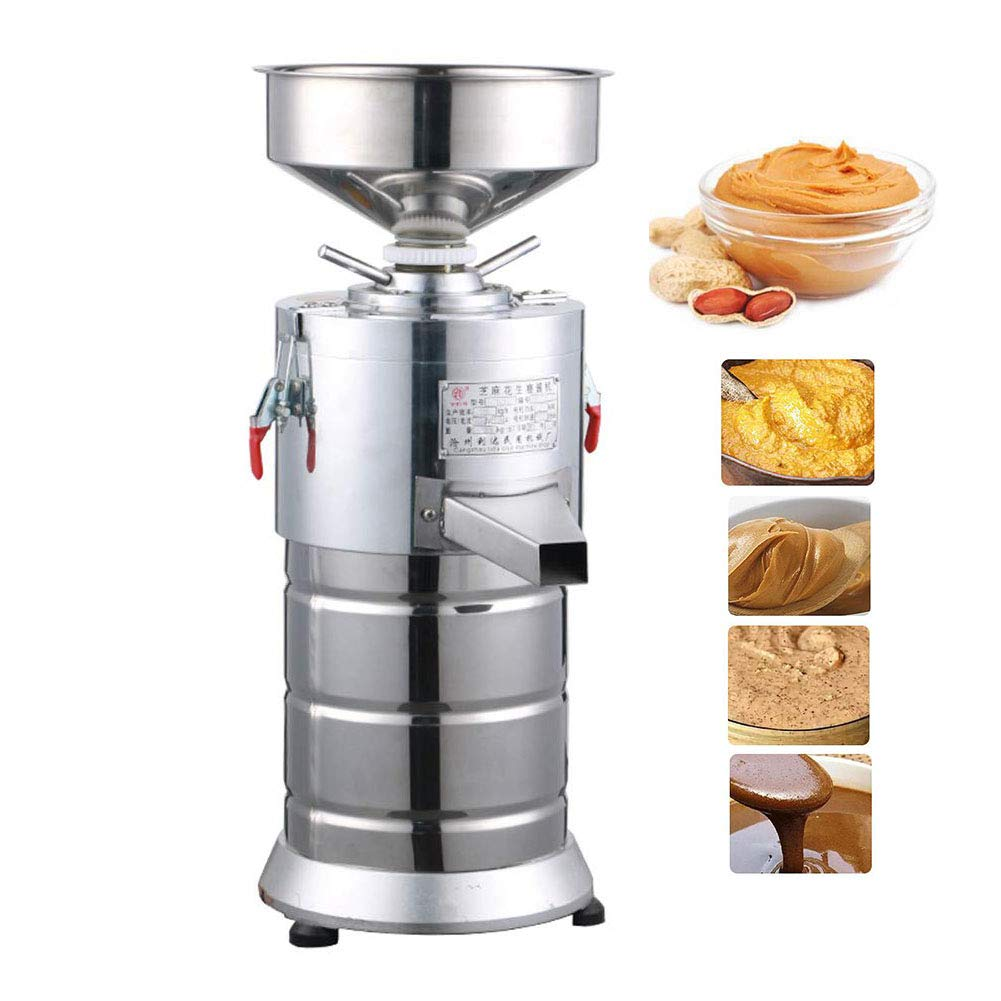 TOPCHANCES Peanut Butter Machine ,1100W Commercial Electric Stainless Steel Peanut Nut Butter Grinder Peanut Paste Machine Sauce Pressing Machine Tomato Butter Maker Colloid Mill