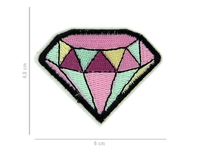 Set Krone Diamant Diamond Bügelbild pink//gelb–verschiedene Größen Aufnäher