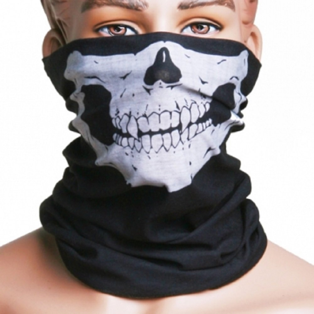 Motorcycle Skull Mask / Wear Headgear Neck Warmer Cycling Goggles Bandana Balaclava Half Ski Skiing Winter Store Shop Item Stuff Protective Hannibal Cheap Skeleton Scary Funny Unique Mouth Full Motorbike Vespa Scooter Riding Biker Rider Fahsionable Fashion